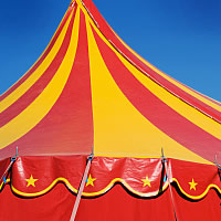 The Ponderous Carnival - Traveling Circus in Dayton, Ohio