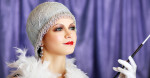 retro flapper style woman