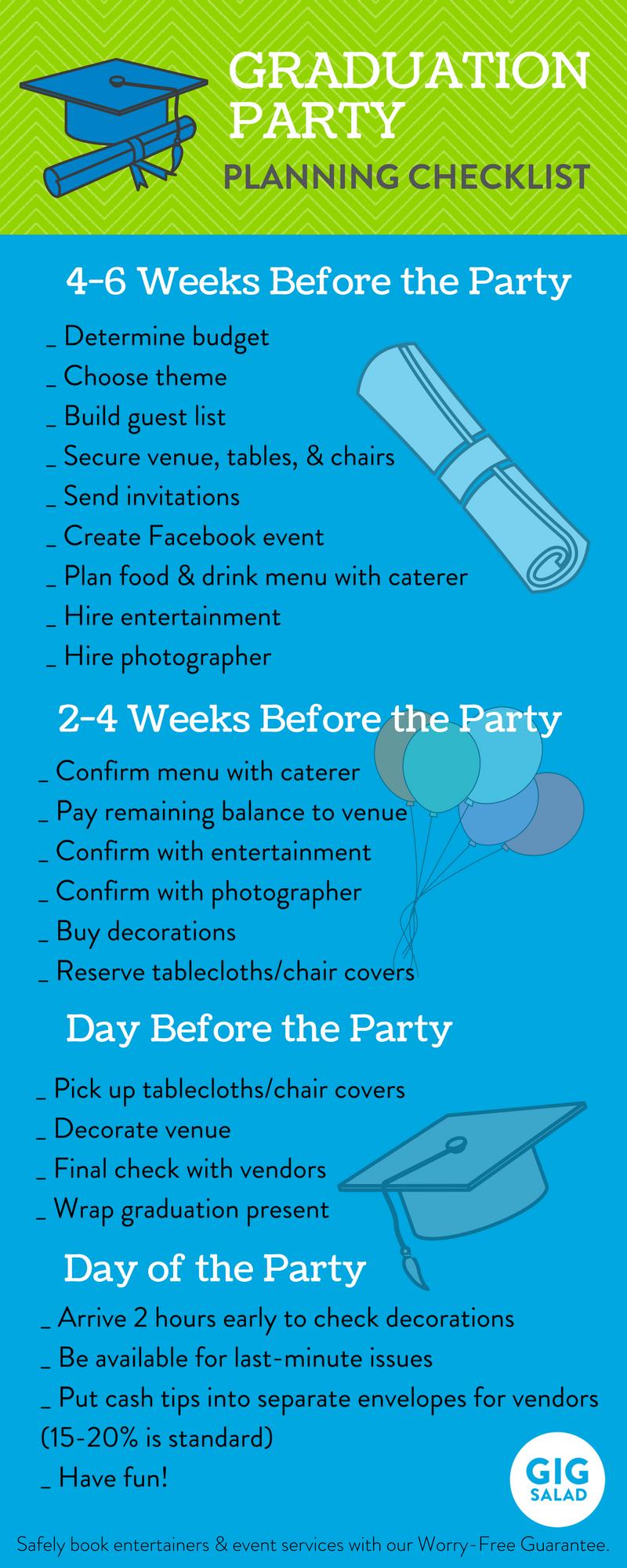 A Simple Graduation Party Checklist For Parents The